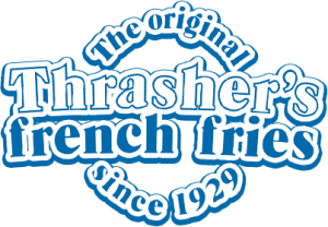 Thrasher's French Fries logo